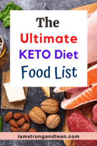 a list of keto diet food list