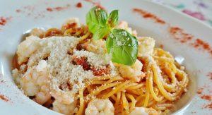 a plate full of spaghetti