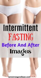 two women legs intermittent fasting before and after images